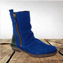 Load image into Gallery viewer, Women's suede retro booties