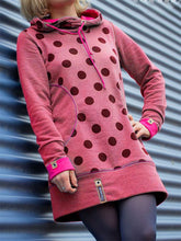 Load image into Gallery viewer, Polka Dots Casual Hoodie Cotton-Blend Dresses