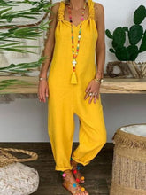 Load image into Gallery viewer, Yellow Boho Solid Pants
