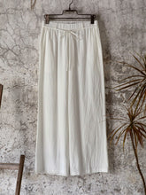 Load image into Gallery viewer, White Shift Linen Casual Pants