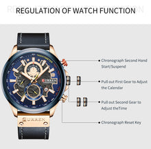 Load image into Gallery viewer, Men's Automatic Watch Calendar Belt Watch