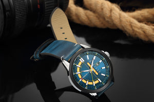 Men's watch waterproof calendar belt  watch