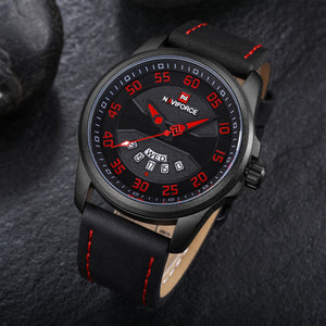 Men's Quartz Watch Waterproof Leather Date Men's Watch