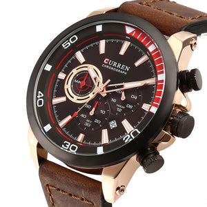 Men's Watch  Six Hand Watch Calendar Men's Watch Waterproof Quartz Belt Watch