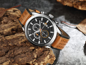 Men's Watches Calendars Men's Watches Waterproof Belt Watch Sport Men's Watches