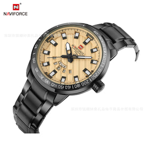 Men's Quartz Watch Waterproof Business Steel Band