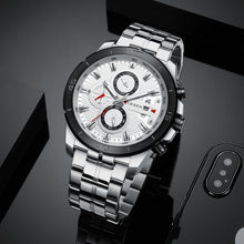 Load image into Gallery viewer, Men's -Multifunctional Steel Strap Watch