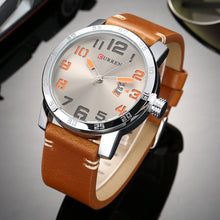 Load image into Gallery viewer, Men's Watch Single Calendar Quartz Men's Watch Business Waterproof Leather Watch