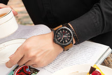 Load image into Gallery viewer, Men's watch waterproof calendar belt  watch