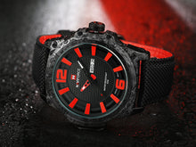 Load image into Gallery viewer, Men's Watch Nylon Strap Waterproof Quartz Date Men's Watch