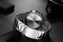 Load image into Gallery viewer, Men's Watch Six Hands Steel Band Quartz
