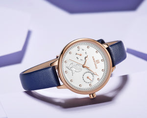 Women's Watch Waterproof Quartz Day Calendar Belt Watch