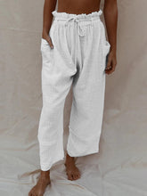 Load image into Gallery viewer, Holiday Cotton Linen Solid Casual Pockets Pants