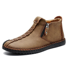 Load image into Gallery viewer, Men Hand Stitching Leather Non Slip Large Size Soft Casual Ankle Boots