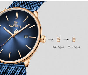 Couple Watch Waterproof Quartz Mesh Band Men's Watch Fashion Watch Date Women's Watch