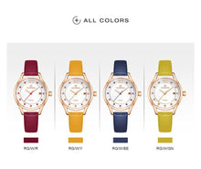 Load image into Gallery viewer, Women's Watch Waterproof Quartz PU Band Watch