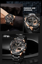 Load image into Gallery viewer, Men's Watch Waterproof Quartz Steel Strap