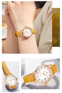 Women's Watch Waterproof Quartz PU Band Watch