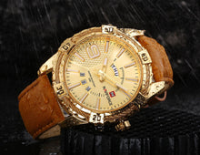Load image into Gallery viewer, Men's watches Leather strap watches Electronic watches