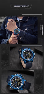 Men's Watch Waterproof Quartz Belt Watch