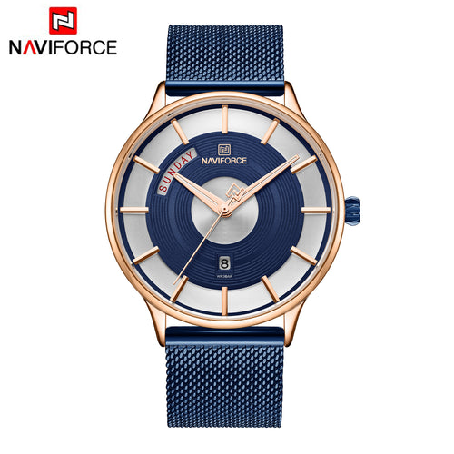 Men's Watches Calendar Business Net Belt Men's Watches