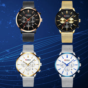 Men's watch - net band watch multi-functional business men's watch