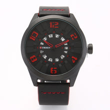 Load image into Gallery viewer, men's watches calendar men's watches quartz leather strap watches
