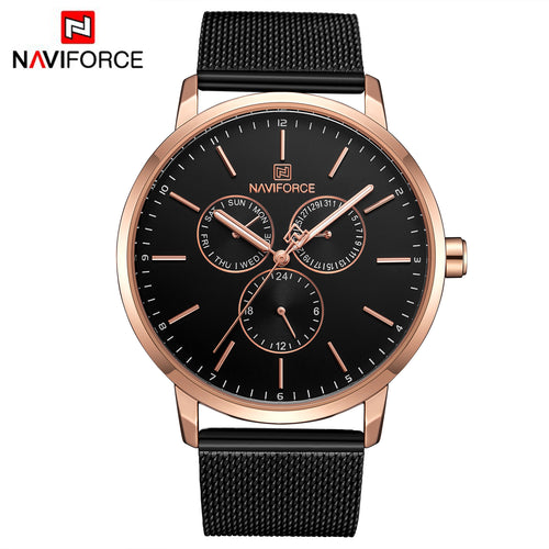 Men's Steel Strap Watch 6 Hands Quartz Waterproof Watch