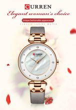 Load image into Gallery viewer, Women's Watch Leather Strap Watch Waterproof Quartz Fashion Casual Women's Watch