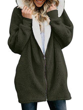 Load image into Gallery viewer, Zipper Cashmere Solid Sweet Long Sleeve Hoodie Teddy Bear Coats