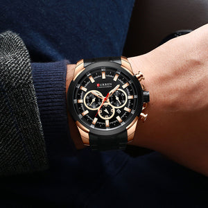 Men's Watch Waterproof Quartz Steel Strap