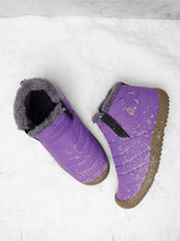 Load image into Gallery viewer, Large Size Unisex Waterproof Fur Lining Slip On Snow Boots
