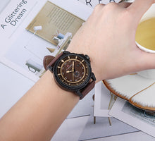 Load image into Gallery viewer, Men's Watches Leather Strap Calendar Men's Waterproof Quartz Watch