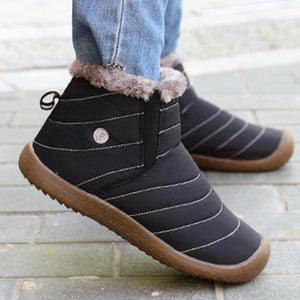 Large Size Waterproof Unisex Faux Fur Lined Slip On Boots