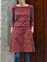Load image into Gallery viewer, Casual Crew Neck Polka Dots Dresses