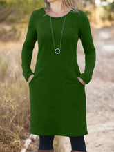 Load image into Gallery viewer, Solid Long Sleeve Casual Dresses