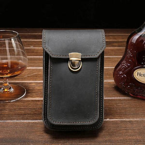 Mens Cigarette Case Belt Loop Cell Phone Holster Waist Bag