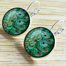 Load image into Gallery viewer, Alloy Peacock Feather Pattern Vintage Boho Ethnic Holiday Daily Earrings