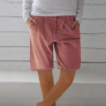 Load image into Gallery viewer, Casual Button Shorts Pants
