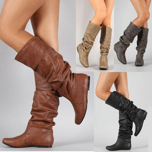 Women PU Booties Casual Comfort Plus Size Shoes