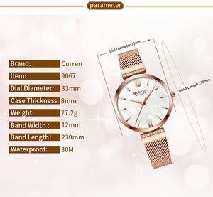 Women's Watch Waterproof Quartz Webbing Watches Fashion Watch