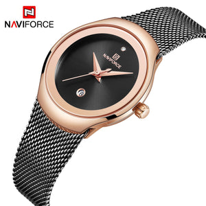 Women's Watch Net Band Date Waterproof Quartz