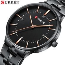 Load image into Gallery viewer, Men's Steel Band Quartz Watch Waterproof Watch Casual Business Men's Watch