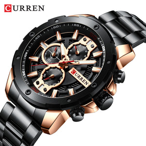 Men's watch - steel band calendar  Foreign Trade watch