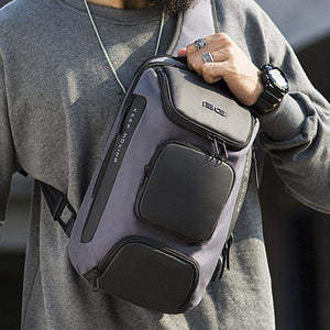 Men's Fashion Outdoor Travel USB Charging Port Sling Chest Bag