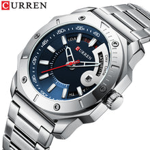 Load image into Gallery viewer, Men's watch waterproof quartz steel band watch business belt watch