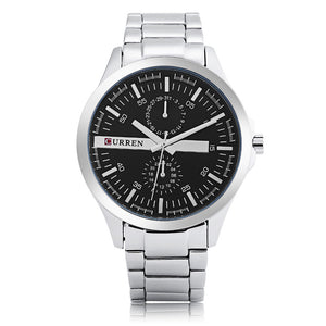 Men's watches Waterproof quartz watches steel band men's watches