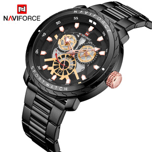 Steel Band Men's Watch Waterproof Quartz Watch Men's Watch