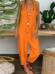Yellow Boho Solid Pants