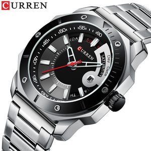 Men's watch waterproof quartz steel band watch business belt watch